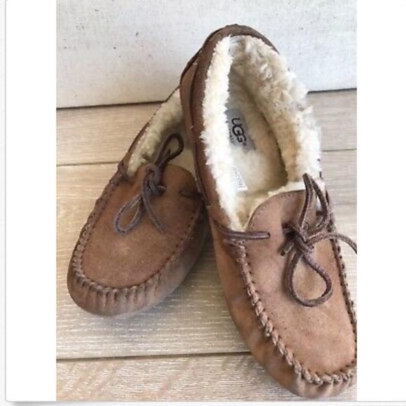 9cb99250de0 Ugg Moccasins Slipper Shoes Sheepskin Fur Lined